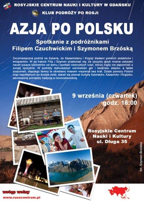 Azja po polsku – Spotkanie z podróżnikami F. Czuchwickim i S. Brzóską