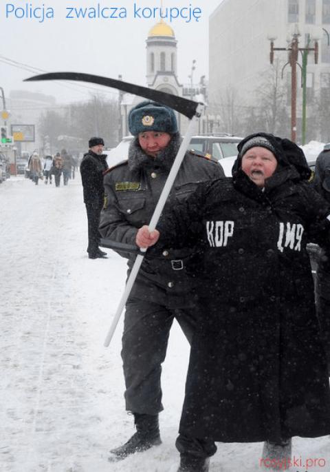 Policja w Rosji zwalcza korupcję