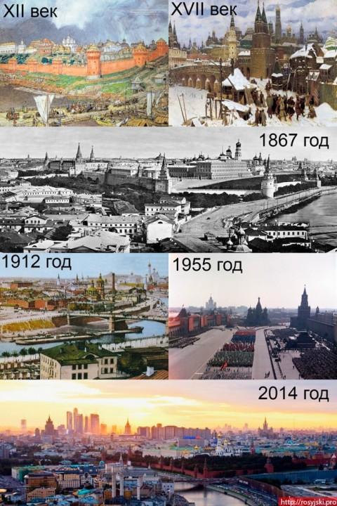 Moskwa wtedy i teraz