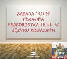 Użycie przedrostka пол- w języku rosyjskim