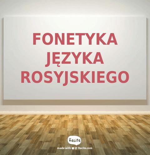 Fonetyka języka rosyjskiego