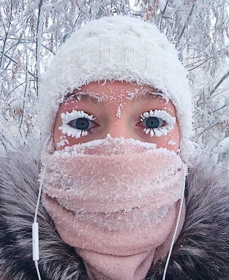 mroźny make-up - ciekawostki z Rosji