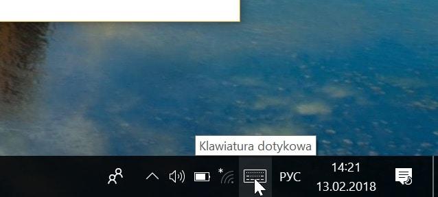 język rosyjski klawiatura dotykowa